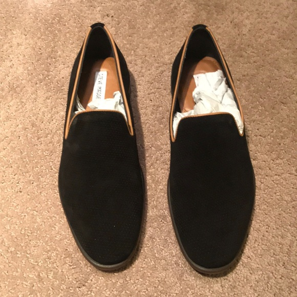 c33fc0ac68b Steve Madden Taslyn black suede loafer size 9. M 5b6f2311dcf855a8a12036a1